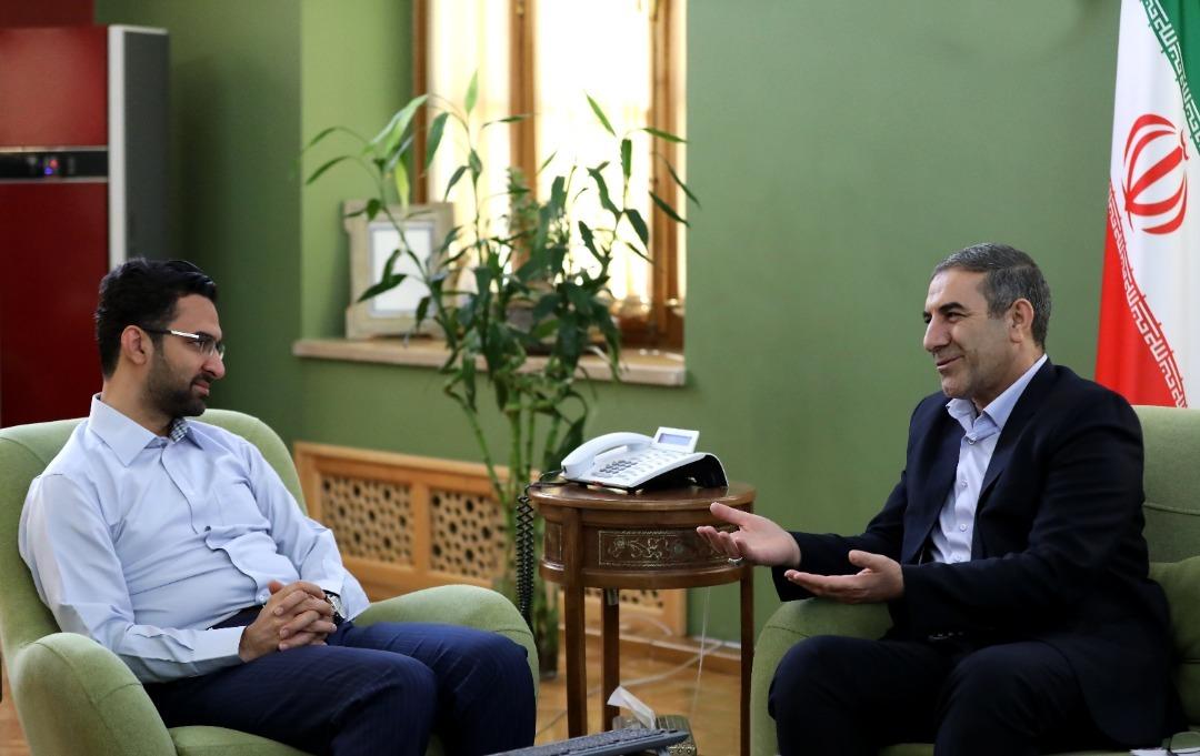 دیدار استاندار کهگیلویه و بویراحمد با جوانترین وزیر دولت + تصاویر