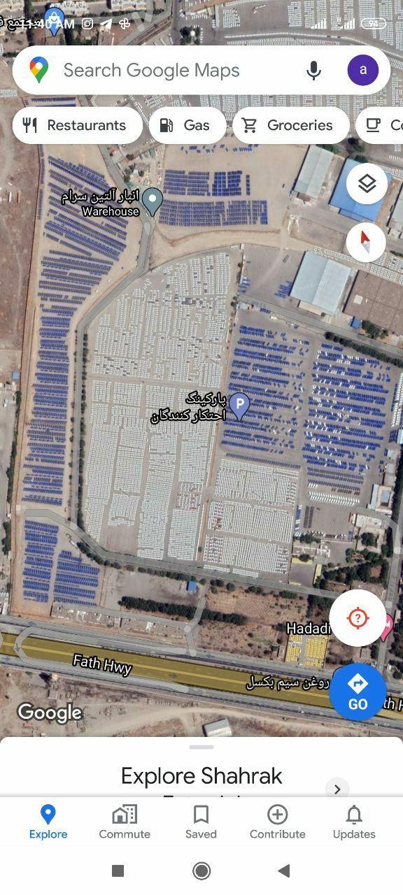 نامگذاری جالب پارکینگ ایرانخودرو بر روی گوگلمپ + عکس
